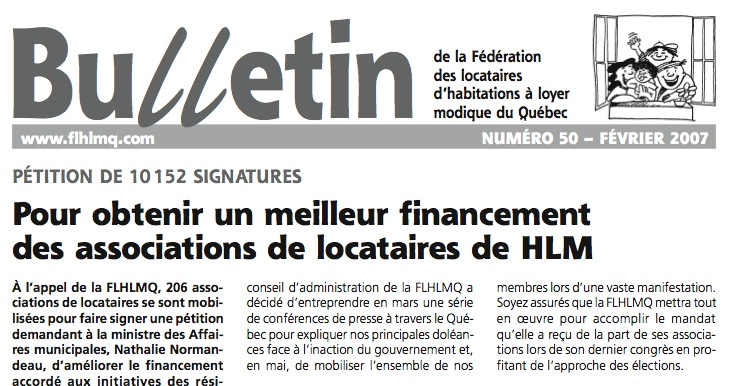 article bulletin pétition
